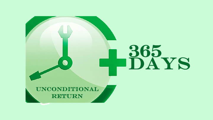 365 days unconditional return ncgtailor