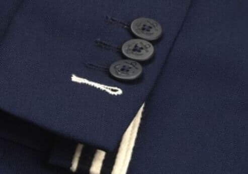 custom suits - sleeve buttonhole color